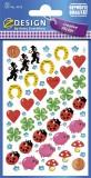 Avery Zweckform® Z-Design 4413, Deko Sticker, Glücksbringer, 3 Bogen/102 Sticker Deko-Etiketten 3