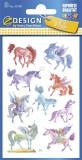 Avery Zweckform® Z-Design 53148, Kinder Sticker, Einhörner, 2 Bogen/27 Sticker Deko-Etiketten 2