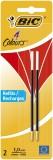 BiC® 4 COLOURS Kugelschreibermine - 0,4 mm, 2 Stück, rot Vierfarbmine rot 0,4 mm 2 Stück