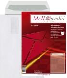 MAILmedia® Versandtaschen B4, mit Adressfeldtasche, haftklebend, 120 g/qm, weiß, 10 Stück B4