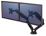 Fellowes® Platinum Series Doppel-Monitorarm Jeder Arm um 360° drehbar. Bildschirmständer schwarz