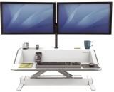Fellowes® Lotus Sitz-Steh Workstation - weiß Monitorarme nicht im Lieferumfang enthalten. weiß
