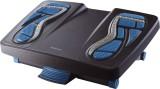 Fellowes® Fußstütze Energizer - Reflexzonen-Massageoberfläche, schwarz-blau Fußstütze 454 mm
