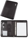 Alassio® Ringbuchmappe TRENTO - A4, Lederimitat, schwarz Lieferung ohne Inhalt. Schreibmappe 285 mm