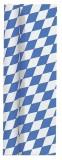Duni Tischdeckenrollen mit Noppenprägung Bayernraute, 100 cm x 8 m Tischtuchrolle weiß-blau 1,00 m