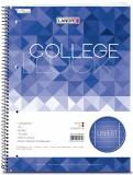 Landré® Collegeblock - chlorfrei 70 g/qm, A4+, 9mm liniert, beidseitig Rand, LIN 37, 80 Blatt A4+