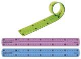 Maped Lineal Twistn Flex - 20 cm, sortiert, im Kunststoff-Etui Plastiklineal 20 cm mm-Teilung