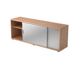 Sideboard 1,5OH beids.nutzbar Nussb./Silber