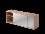 Sideboard 1,5OH beids.nutzbar Nussbaum/Weiß