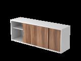 Sideboard 1,5OH beids.nutzbar Weiß/Eiche