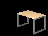 Schreibtisch O-Fuß eckig 120x80cm Ahorn/Graph