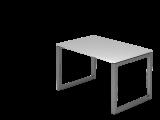Schreibtisch O-Fuß eckig 120x80cm Grau/Graphi