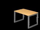 Schreibtisch O-Fuß eckig 120x80cm Buche/Graph