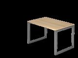 Schreibtisch O-Fuß eckig 120x80cm Eiche/Graph