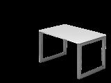 Schreibtisch O-Fuß eckig 120x80cm Weiß/Graphi