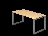 Schreibtisch O-Fuß eckig 160x80cm Ahorn/Graph