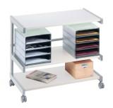 Bürowagen Grau mit 2 Ablageboxen