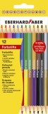 Eberhard Faber Duo Buntstift hexagonal 12er Kartonetui Buntstift sortiert 3,0 mm