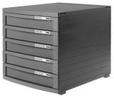 HAN Schubladenbox CONTUR, DIN A4/B4/C4, 5 geschlossene Schubladen, dunkelgrau Schubladenbox A4/B4/C4