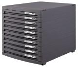 HAN Schubladenbox CONTUR, DIN A4/B4/C4, 10 geschlossene Schubladen, dunkelgrau Schubladenbox 10