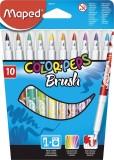 MAPED Pinselfilzstift ColorPeps Brush, farbig sortiert, 10 Stück in Blisterschachtel Pinselmaler