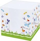 RNK Verlag Notizklotz Schmetterlinge - 900 Blatt, 70 g/qm, weiß, 95 x 95 x 95 mm Zettelbox 95 mm