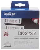 Brother DK-Endlosetiketten Papier - 62 mm x 15,24 m, schwarz/rot auf weiß Thermoetiketten Papier