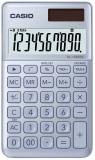Casio® Taschenrechner SL-1000 - Solar-/Batteriebetrieb, 10stellig, LC-Display, hellblau blau