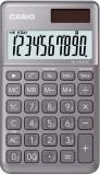Casio® Taschenrechner SL-1000 - Solar-/Batteriebetrieb, 10stellig, LC-Display, grau Taschenrechner