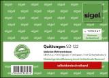 SIGEL Quittung inkl. MwSt. mit Sicherheitsdruck - A6 quer, SD, 2 x 50 Blatt Quittung DIN A6 quer