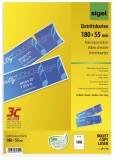 SIGEL Eintrittskarten mit Abriss - bedruckbar, 180x 55 mm, 100 Stück auf A4 Bögen, weiß weiß