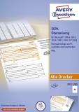 Avery Zweckform® 2817-200 Sepa-Überweisung - A4, ohne Software, 200 Blatt PC-Formular A4 200