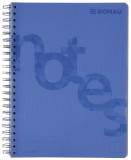 DONAU Collegeblock PP Cover - A4, kariert, blau Collegeblock A4 kariert 4fach-Lochung 80 g/qm