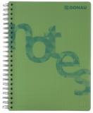 DONAU Collegeblock PP Cover - A4, kariert, grün Collegeblock A4 kariert 4fach-Lochung 80 g/qm