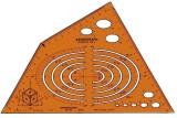 Standardgraph Axonograph Isometric Schablone 240 x 135 mm 4 - 105 mm 30°, 60°, 90°