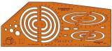 Standardgraph Axonograph II Dimetric Schablone 210 x 110 mm 4 - 90 mm