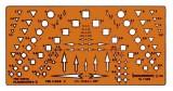 Standardgraph Planzeichenschablone II Schablone 175 x 85 mm 1,5 bis 8 mm
