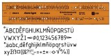 Standardgraph Schriftschablone Typ B gerade (Mittelschrift) 3,5 mm Schablone Stano type 3,5 mm