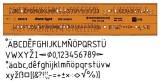 Standardgraph Schriftschablone Typ B gerade (Mittelschrift) 5 mm Schablone Stano type 5 mm