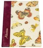 Adressbuch Schmetterlinge - A5, 24-tlg. Register Adressbuch Schmetterlinge A5 Sonderlineatur