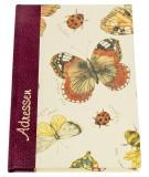 Adressbuch Schmetterlinge - A6, 20-tlg. Register Adressbuch Schmetterlinge A6 Sonderlineatur