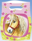 amscan Partytüte Pferde - 6 Stück Partytüte Pferde 16,5 cm 23 cm Plastik
