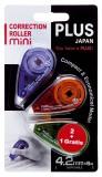 Plus Japan Korrekturroller Mini - 4,2 mm x 6 m, 2 Stück + 1 Stück gratis Korrekturroller 4,2 mm