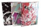 DONAU Heftbox Teens Girls - A4, sortiert Dokumentenbox A4 Gummizug ca. 300 Blatt