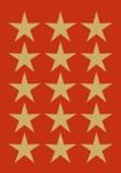 3414 Sticker DECOR Sterne 5-zackig, gold Ø 22 mm Sterne gold 22 mm selbstklebend 45 Stück Papier