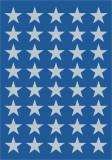 3417 Sticker DECOR Sterne 5-zackig, silber Ø 13 mm Weihnachtsetiketten Sterne silber 13 mm