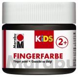 Marabu Fingerfarbe Kids - 100 ml, schwarz Für Kinder ab 3 Jahren. Fingerfarben schwarz 100 ml