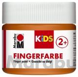 Marabu Fingerfarbe Kids - 100 ml, orange Für Kinder ab 3 Jahren. Fingerfarben orange 100 ml