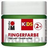 Marabu Fingerfarbe Kids - 100 ml, grün Für Kinder ab 3 Jahren. Fingerfarben grün 100 ml
