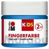 Marabu Fingerfarbe Kids - 100 ml, blau Für Kinder ab 3 Jahren. Fingerfarben blau 100 ml